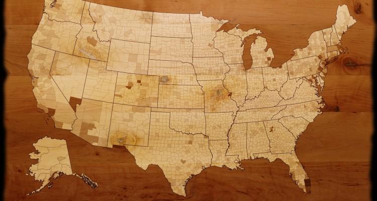 states on wood