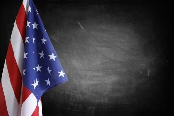 flag on blackboard shutterstock_219476764